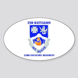 DUI - 2nd Bn - 23rd Infantry Regt with Text Sticke